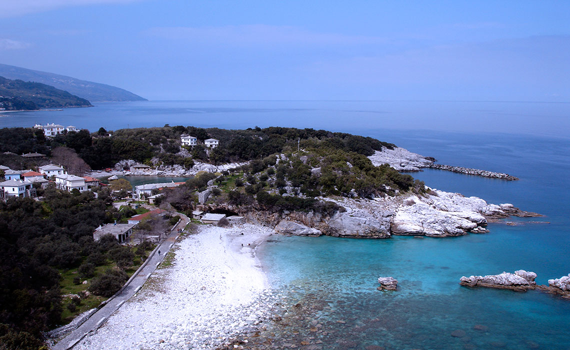 The North Bay is also today a small port, which hosts the locals' small fishing boats and also yachts. The settlement consists of old traditional Pelion houses with the discreet rooftops and the incomparable beauty of the traditional Pelion tiles